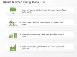 Cw Green Energy Icons For Factory Solar Light Symbols Ppt Icons Graphics