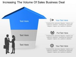 cw Increasing The Volume Of Sales Business Deal Powerpoint Template