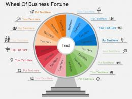Cw Wheel Of Business Fortune Flat Powerpoint Design