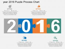 cw Year 2016 Puzzle Process Chart Flat Powerpoint Design