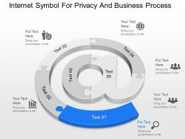 cx Internet Symbol For Privacy And Business Process Powerpoint Template