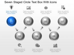 Cx Seven Staged Circle Text Box With Icons Powerpoint Template