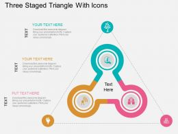 cx Three Staged Triangle With Icons Flat Powerpoint Design