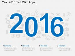 cx Year 2016 Text With Apps Flat Powerpoint Design