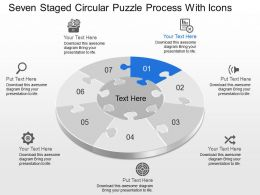 Cy Seven Staged Circular Puzzle Process With Icons Powerpoint Template