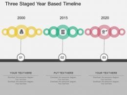 cy Three Staged Year Based Timeline Flat Powerpoint Design