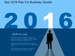 cy Year 2016 Plan For Business Growth Flat Powerpoint Design