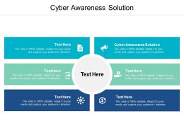 Cyber Awareness Solution Ppt Powerpoint Presentation File Layout Cpb