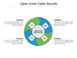 Cyber Crime Cyber Security Ppt Powerpoint Presentation Portfolio Structure Cpb