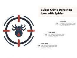 Cyber Crime Detection Icon With Spider