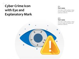 Cyber Crime Icon With Eye And Explanatory Mark