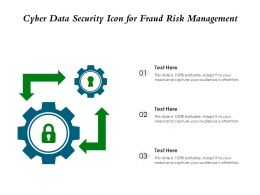 Cyber Data Security Icon For Fraud Risk Management