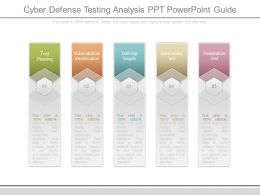 Cyber Defense Testing Analysis Ppt Powerpoint Guide