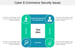 Cyber E Commerce Security Issues Ppt Powerpoint Presentation Ideas Microsoft Cpb