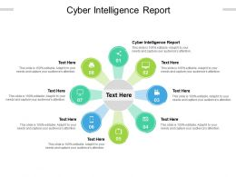 Cyber Intelligence Report Ppt Powerpoint Presentation Layouts Gallery Cpb