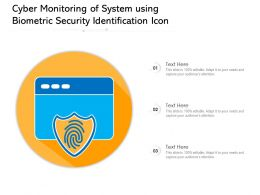 Cyber Monitoring Of System Using Biometric Security Identification Icon