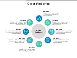 Cyber Resilience Ppt Powerpoint Presentation Gallery Layout Ideas Cpb