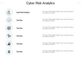 Cyber Risk Analytics Ppt Powerpoint Presentation Pictures Graphics Cpb