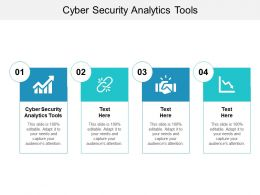 Cyber Security Analytics Tools Ppt Powerpoint Presentation Ideas Portfolio Cpb