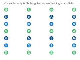 Cyber Security And Phishing Awareness Training Icons Slide Ppt Designs