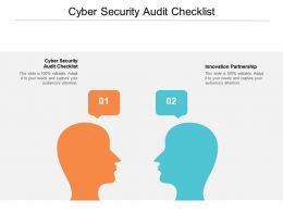 Cyber Security Audit Checklist Ppt Powerpoint Presentation Gallery Visual Aids Cpb