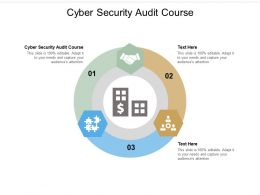 Cyber Security Audit Course Ppt Powerpoint Presentation Ideas Graphics Tutorials Cpb