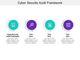 Cyber Security Audit Framework Ppt Powerpoint Presentation Ideas Example Cpb