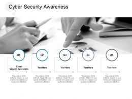 Cyber Security Awareness Ppt Powerpoint Presentation Infographic Template Slide Cpb