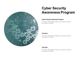 Cyber Security Awareness Program Ppt Powerpoint Presentation Inspiration Gridlines Cpb