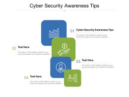 Cyber Security Awareness Tips Ppt Powerpoint Presentation Slides Show Cpb