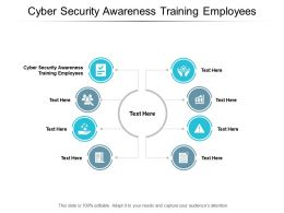 Cyber Security Awareness Training Employees Ppt Powerpoint Presentation Portfolio Ideas Cpb