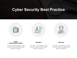 Cyber Security Best Practice Ppt Powerpoint Presentation File Icons Cpb