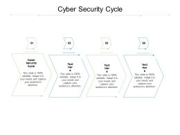 Cyber Security Cycle Ppt Powerpoint Presentation Model Visual Aids Cpb