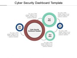 Cyber Security Dashboard Template Ppt Powerpoint Presentation Infographics Cpb