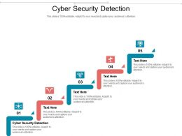 Cyber Security Detection Ppt Powerpoint Presentation Infographics Gridlines Cpb