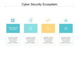 Cyber Security Ecosystem Ppt Powerpoint Presentation Layouts Graphics Example Cpb