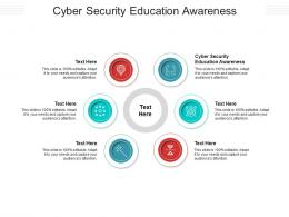 Cyber Security Education Awareness Ppt Powerpoint Presentation Portfolio Visuals Cpb