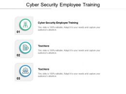 Cyber Security Employee Training Ppt Powerpoint Presentation Outline Slide Portrait Cpb