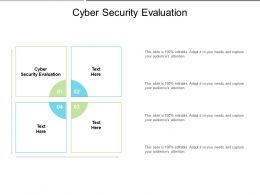 Cyber Security Evaluation Ppt Powerpoint Presentation Professional Themes Cpb