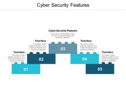 Cyber Security Features Ppt Powerpoint Presentation Infographic Template Slides Cpb