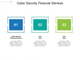 Cyber Security Financial Services Ppt Powerpoint Presentation Ideas Cpb