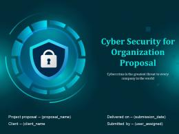 Cyber Security For Organization Proposal Powerpoint Presentation Slides