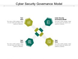 Cyber Security Governance Model Ppt Powerpoint Presentation Outline Display Cpb