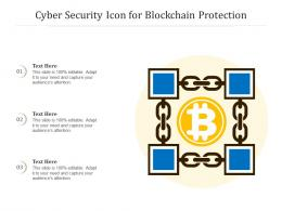 Cyber Security Icon For Blockchain Protection