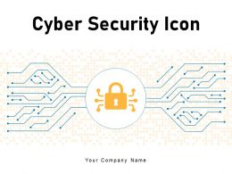 Cyber Security Icon Network Protection Threat Server Database Software