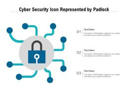 Cyber Security Icon Represented By Padlock