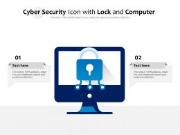 Cyber Security Icon With Lock And Computer