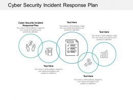 Cyber Security Incident Response Plan Ppt Powerpoint Presentation Model Deck Cpb