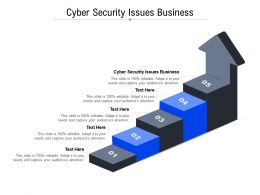 Cyber Security Issues Business Ppt Powerpoint Presentation Model Slide Portrait