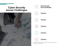 Cyber Security Issues Challenges Ppt Powerpoint Presentation Slides Diagrams Cpb